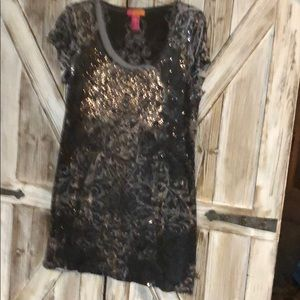 catch my i Dresses - Black and silver sequin dress